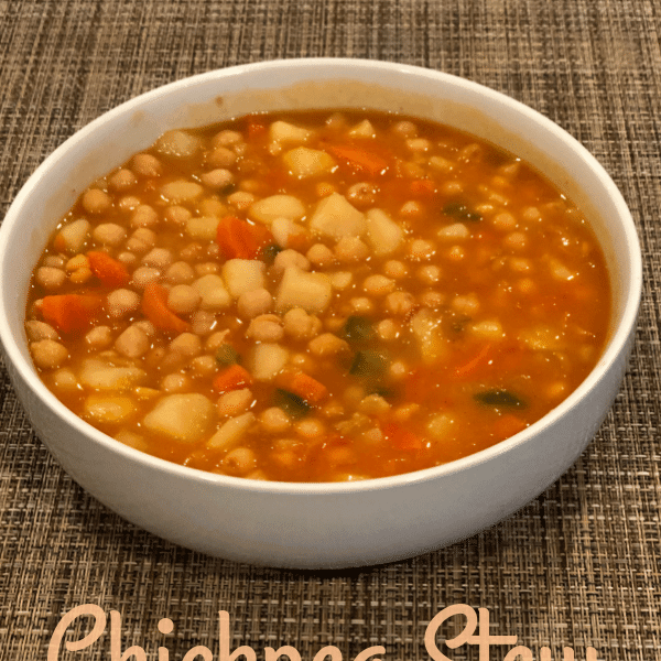A Healthy vegan chickpea stew