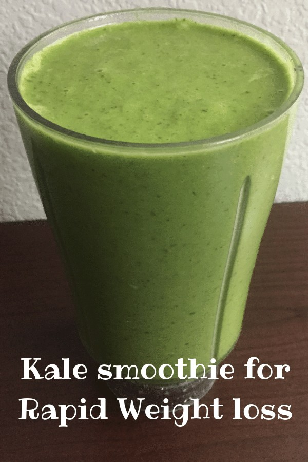 Kale healthy weight loss smoothie