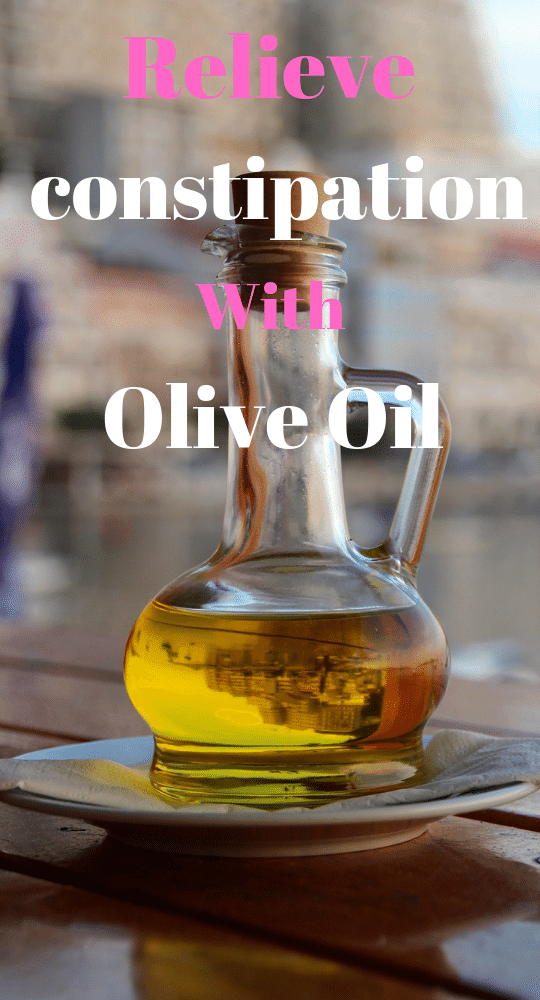 Olive oil-Natural Laxative for Constipation