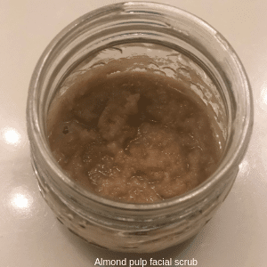 Almond Pulp Facial Scrub with oats