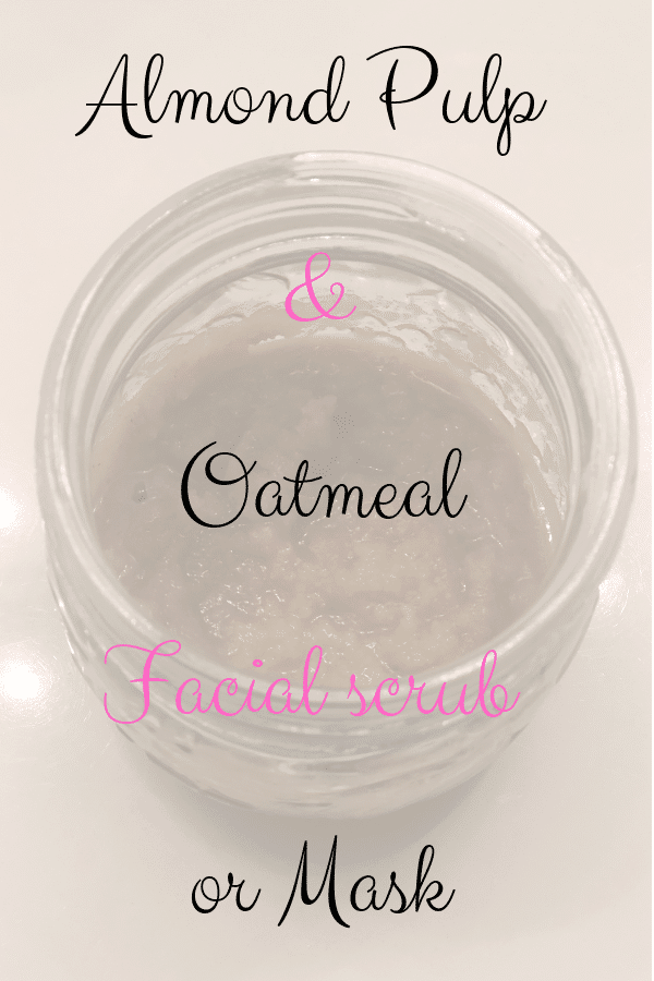 Almond Pulp and Oat Facial Scrub for a soft and clear skin.