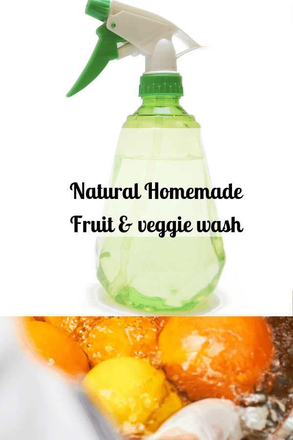 4 recipes of Natural Homemade Fruit & Veggie Wash