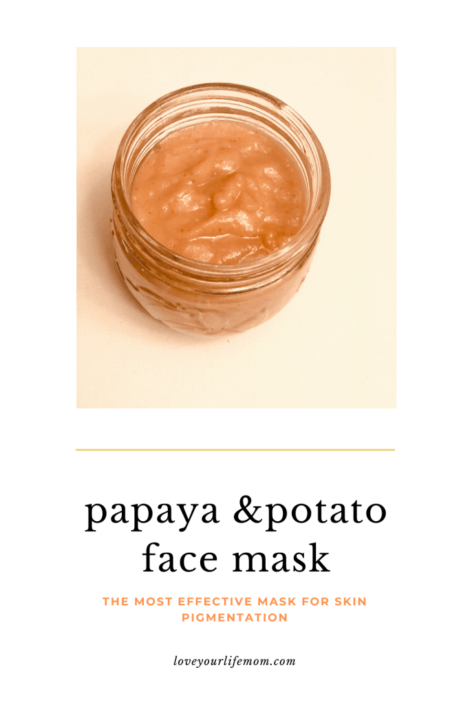 Homemade Papaya & potato mask