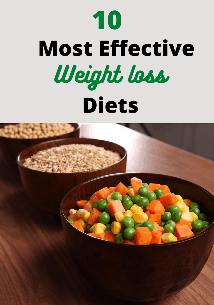 10 Most effective diets for weight loss