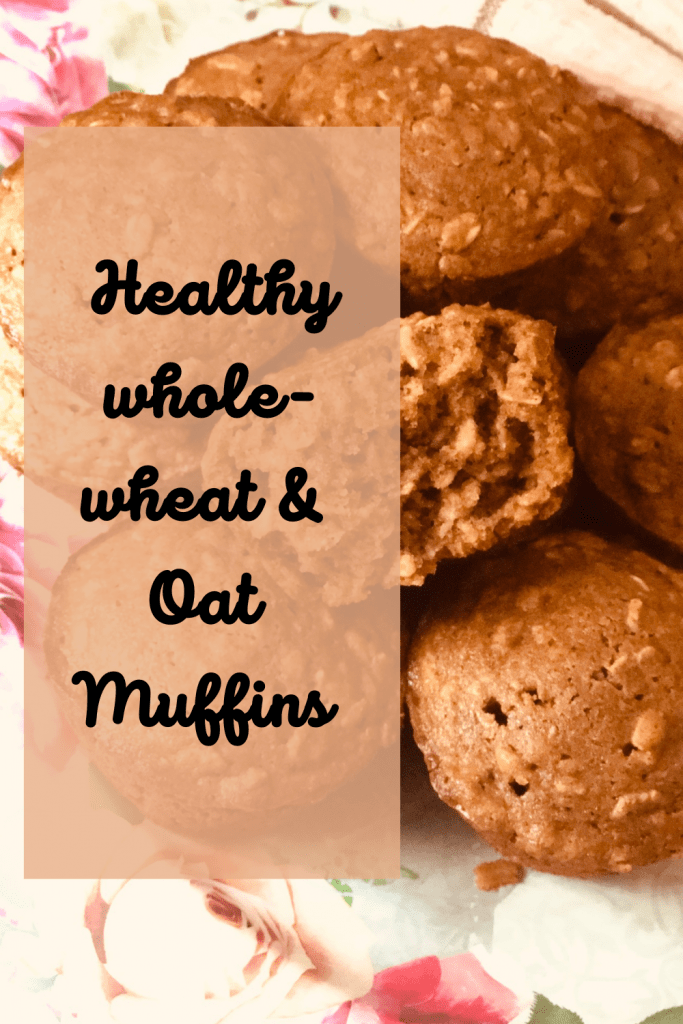 Healthy whole wheat and Oat vegan Muffins